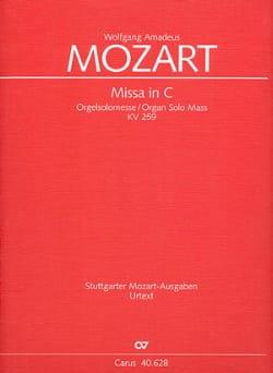 Missa C-Dur (Orgelsolomesse) KV 259 – Partitur - laflutedepan.com