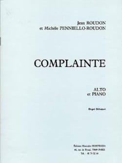 Complainte - Roudon Jean / Penniello-Roudon Michèle - laflutedepan.com