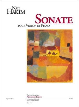 Sonate pour violon et piano Naji Hakim Partition Violon - laflutedepan
