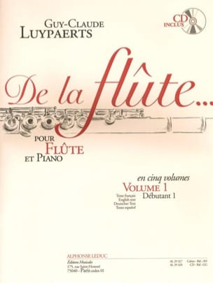 Guy-Claude Luypaerts - De la flûte... - Volume 1 - Partition - di-arezzo.fr
