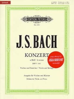 Johann Sebastian Bach - Concerto Violon en la Mineur BWV 1041 - Partition - di-arezzo.fr