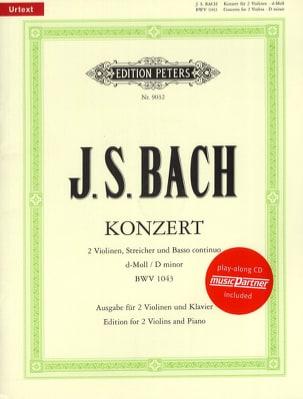 BACH - Concerto 2 Violins BWV 1043 min. - Partition - di-arezzo.com