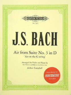 Johann Sebastian Bach - Air de la Suite N° 3 en Ré - Partition - di-arezzo.fr