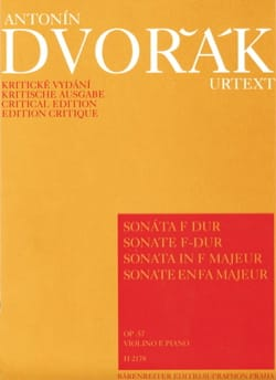 Antonin Dvorak - Sonate op. 57 en Fa Majeur - Partition - di-arezzo.fr
