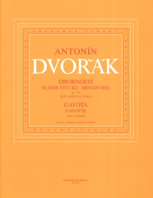 DVORAK - Miniatures op. 75a and Gavotte - Partition - di-arezzo.com