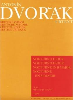 Nocturno H-Dur op. 40 -Partitur + Stimmen - DVORAK - laflutedepan.com
