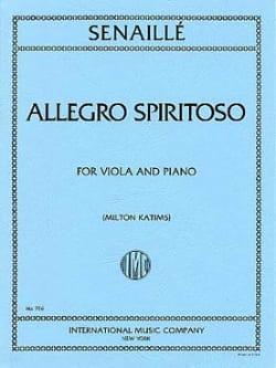 Jean-Baptiste Senaillé - Allegro Spirituoso - Alto - Partition - di-arezzo.fr