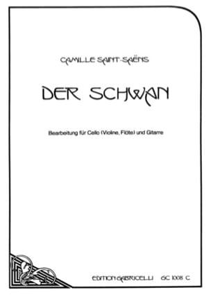 Camille Saint-Saëns - Der Schwan - Cello o. Violine, Flöte Gitarre - Partition - di-arezzo.fr