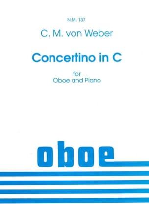 Carl Maria von Weber - Concertino in C -Oboe piano - Partition - di-arezzo.fr