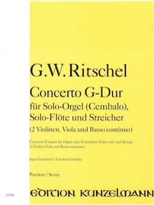 Concerto G-Dur – Partitur - Georg Wenzel Ritschel - laflutedepan.com
