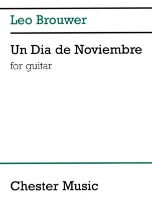 Un Dia de Noviembre BROUWER Partition Guitare - laflutedepan