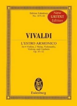 VIVALDI - L' Estro Armonico Opus 3 N° 1/12 - Partition - di-arezzo.fr