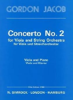 Gordon Jacob - Concerto n° 2 for Viola - Partition - di-arezzo.fr