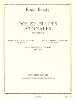 Roger Boutry - 12 Atonales Studies - Bassoon - Sheet Music - di-arezzo.com
