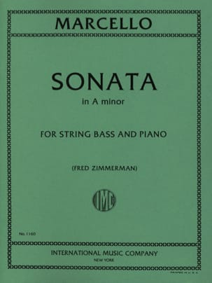 Benedetto Marcello - Sonata A minor - String bass - Sheet Music - di-arezzo.co.uk
