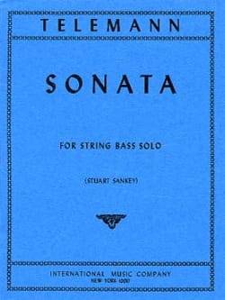 Sonata for String Bass solo TELEMANN Partition laflutedepan