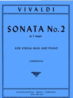 VIVALDI - Sonata No. 2 in F major - String bass - Sheet Music - di-arezzo.com