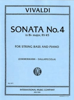 VIVALDI - Sonata No. 4 in B flat maj. - String bass - Sheet Music - di-arezzo.co.uk