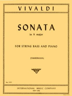 VIVALDI - Sonata in A maj. - String Bass - Sheet Music - di-arezzo.com
