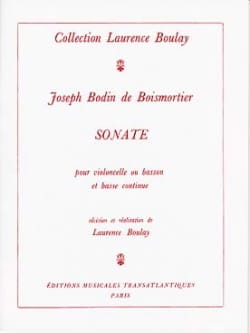 Sonate - Cello ou basson et Bc BOISMORTIER Partition laflutedepan