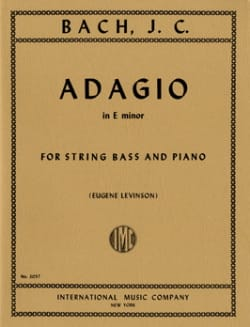 Johann Christian Bach - Adagio In E Minor - String Bass - Partition - di-arezzo.fr