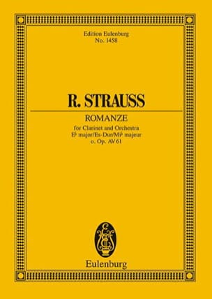 Richard Strauss - Romanze Es-Dur - Partition - di-arezzo.fr
