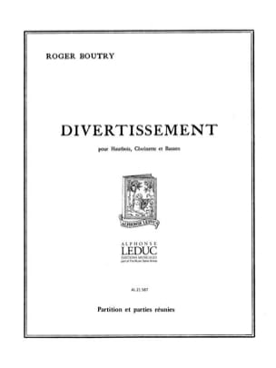 Roger Boutry - Entertainment - Partition Parties - Sheet Music - di-arezzo.co.uk