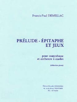 Francis-Paul Demillac - Prelude - Epitaph and Games - Sheet Music - di-arezzo.co.uk