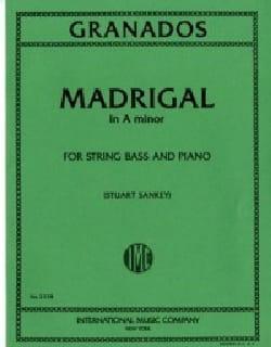 Madrigal in A minor - String bass GRANADOS Partition laflutedepan