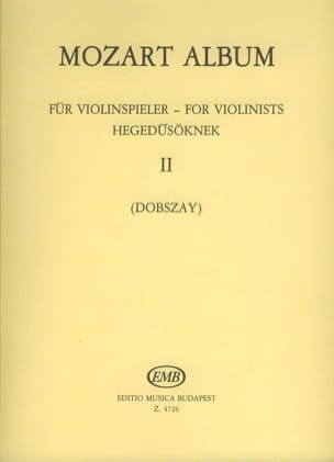 Mozart Album for violonists, Volume 2 - MOZART - laflutedepan.com