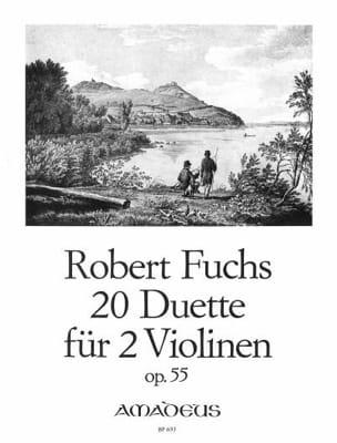 20 Duos Pour 2 Violons Op.55 Robert Fuchs Partition laflutedepan