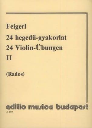 Peregrin Feigerl - 24 Violin-Übungen, Bd 2 - Partition - di-arezzo.fr