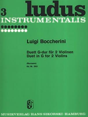 Duett G-Dur - 2 Violons BOCCHERINI Partition Violon - laflutedepan