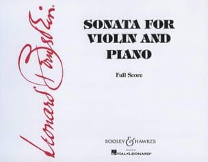 Leonard Bernstein - Sonata para violín y piano - Partitura - di-arezzo.es