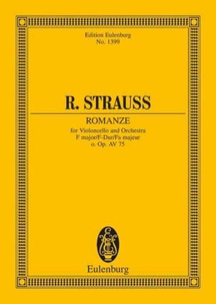 Richard Strauss - Romanze F-Dur O. Op. (Av 75) - Partition - di-arezzo.fr