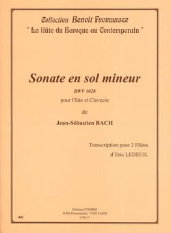 Johann Sebastian Bach - Sonate en sol mineur BWV 1020 - Partition - di-arezzo.fr