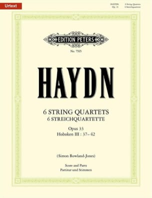 6 Streichquartette op. 33 -Partitur + Stimmen - laflutedepan.com