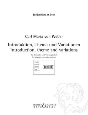 Introduktion, Thema und Variationen -Klarinette Streichquartett - laflutedepan.com
