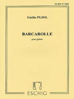Emilio Pujol - Barcarolle - Partition - di-arezzo.fr