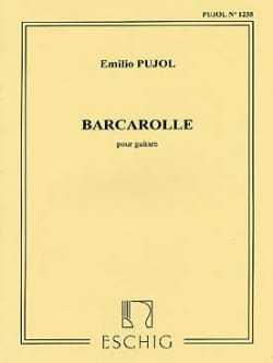 Emilio Pujol - Barcarolle - Sheet Music - di-arezzo.com