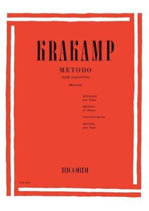 Emanuele Krakamp - Metodo por fagotto - Partitura - di-arezzo.es