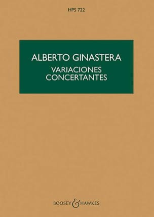 Variaciones concertantes - Score - GINASTERA - laflutedepan.com