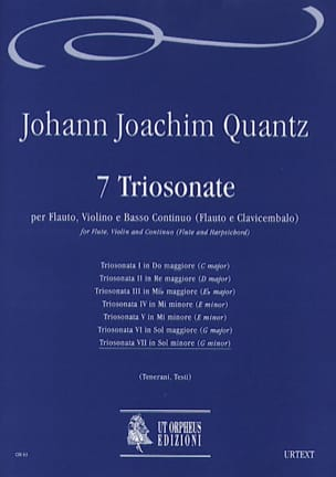 Johann Joachim Quantz - Triosonata n ° 7 in Minore soil - Flauto, violino e bc - Sheet Music - di-arezzo.com
