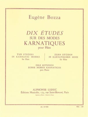 Eugène Bozza - 10 Studies on karnatic modes - Sheet Music - di-arezzo.co.uk
