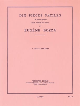 Eugène Bozza - Menuet Pages - Sheet Music - di-arezzo.com