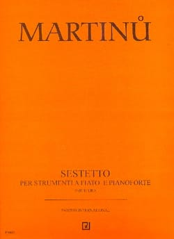 Bohuslav Martinu - Sextet - Flute-Oboe-Clarinet-2 Bassoons-Piano - Sheet Music - di-arezzo.co.uk