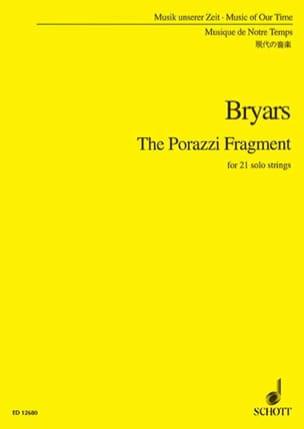 Gavin Bryars - The Porazzi Fragment - Conducteur - Partition - di-arezzo.fr