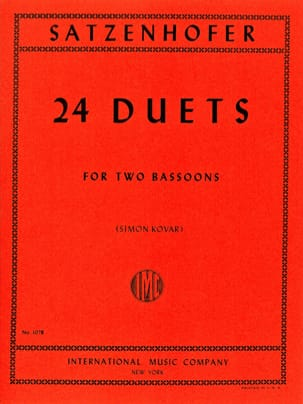 24 Duets - 2 Bassons Satzenhofer Partition Basson - laflutedepan