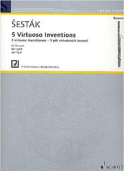 5 Invenzioni Per Virtuosi - Basson Solo Zdenek Sestak laflutedepan