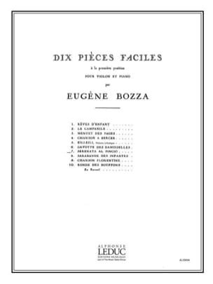 Eugène Bozza - Serenata al Pincio - Partition - di-arezzo.fr